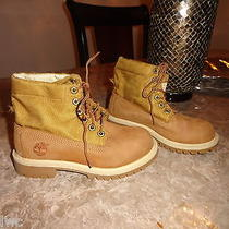 Timberland Beige Ankle Boots Boys Size 1 Photo
