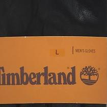 Timberland Black Leather Rugged/casual Supple Smooth Water Repellent Gloves Photo