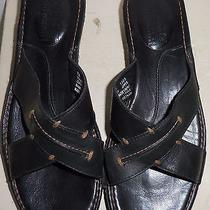 Timberland Black Leather Size 7 Strappy Sandals Photo