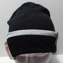 Timberland Black With Gray Accent Cuff Beanie Photo