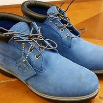 Timberland Boots Blue Suede Size 11 Low Top Style  Photo