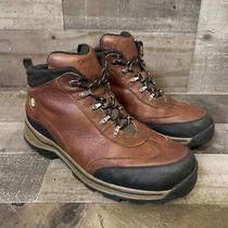 Timberland Boots Size 8 Youth/womens Leather Hiking Backroad Brown Outdoor Boots Photo