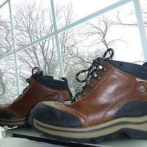 Timberland Boys Brown Leather Lace Up Insulated Ankle Boots Shoes Youth 3 Photo