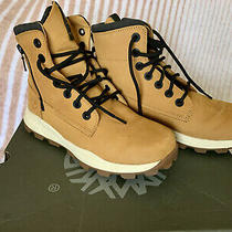 Timberland Brooklyn Side Zip Boot Wheat Nubuck 0a2j1e Men Size 8.5 Pre Owned Photo
