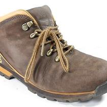 Timberland Brown Leather Lace Up Ankle Hiking Boots Womens 6 M 69634 Vguc Photo
