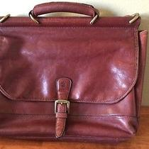 Timberland Brown Leather Messenger Briefcase Computer Bag Photo