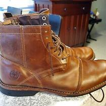 Timberland Earthkeepers Boots Waterproof Brown Leather Zipper/lace Mens Size 9m Photo