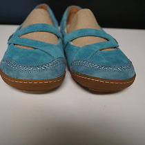 Timberland Earthkeepers Nib Teal Suede Gum Sole Barestep Mary Janes Sz 9 B946 Photo