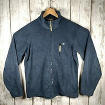 Timberland Full Zip Fleece Jacket Size M in Blue - Vintage 90s Photo