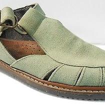 Timberland Green Canvas Fisherman Sandals Flats Ankle Buckle Womens 8.5 M Vguc Photo