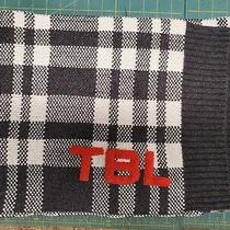 Timberland Grey Plaid Scarf With Orange Logo Photo