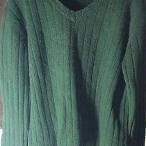 Timberland Hunter Green Cable Knit Lambs Wool Sweater Size L Photo