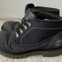 Timberland Lace Up Waterproof Blue Nubuck  Leather Mens Size 8 Boots Photo