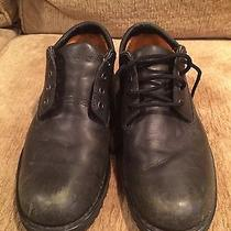 Timberland Leather Low Top Waterproof Work Shoe Black Size 9 Photo