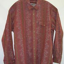 Timberland  Long Sleeve Button Up Red Floral Stripes Shirt Men's Xxl/ttg Vguc  Photo