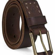 Timberland Men's Casual Leather Belt Dark Brown 42 Dark Brown Size 42 Rect Photo