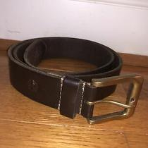 Timberland Men's Classic Jean Genuine Leather Belt Brown Size 36 Made in Usa Photo