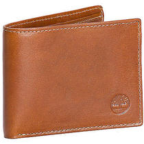 Timberland Men's Deep Cognac Buff Apache Slimfold Bifold Leather Wallet Photo