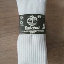 Timberland Men's Socks 4 Pack Large 9-12 White Outdoor Cushioned  Multi-Purpose Photo