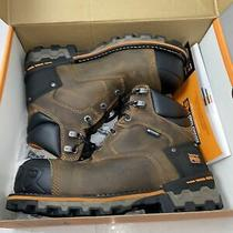 Timberland Mens Boondock Closed Toe Ankle Military Boots Brown Size 8.0 Dwsr Photo