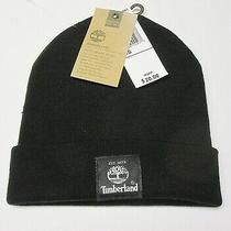 Timberland Mens Classic Short Watch Cap Beanie Hat Black New With Tag Photo