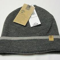 Timberland Mens Classic Short Watch Cap Beanie Hat Gray New With Tag Photo