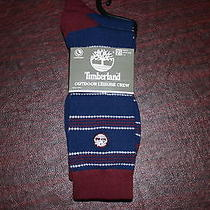 Timberland Mens Outdoor Leisure Crew 2 Pack Socks 9 10 11 12 New Nwt Blue Maroon Photo