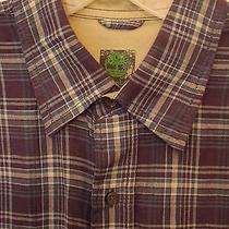 Timberland Mens S/s Blue Linen Casual Shirt - Size Medium Photo
