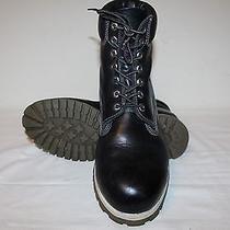 Timberland Premium Solid Black Leather Boots Size 12 Medium Photo