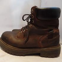 Timberland Pro Eh Waterproof Brown Leather Insulated Ankle Work Boots Mens 7.5 M Photo