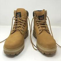 Timberland Pro Soft Toe Direct Attach 6 Inch Wheat Leather Work Boots  Sz 8 Mens Photo