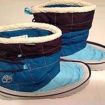Timberland Radler Womens Slipper Boots Zip  New Nib Purple Teal  Size 9  3553r Photo
