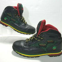 Timberland Rasta Jamaican Leather Hiking Boots Mens 12m Black Red Yellow Green Photo