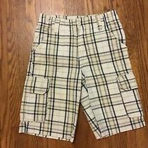 Timberland Tan Blue Plaid Shorts Size 8 Photo