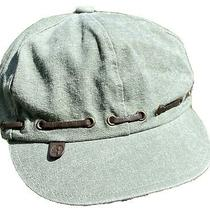 Timberland Unisex Cap/hat Looks Like a Calvary Cap 93% Cotton 7% Leather Nwt M Photo