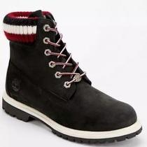 Timberland Urban Outfitters Boots Black Red Sweater Cuff Ankle Chukka  Size 9 Photo