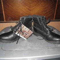 Timberland Waterproof Black Leather Work Insulated Outdoors Men's Size 8 M Boots Photo