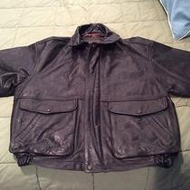 Timberland Weathergear Leather Flight Bomber Jacket Photo