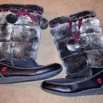 Timberland Winterberry Girls Snow Youth Size 4.5 Black Snow Boots Photo