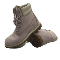 Timberland Women's Mauve Leather & Cream Classic Waterproof Boot Size Us 8.5  Photo