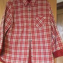 Timberland - Womens Shirt/top - Red/white - Reversible - Size 10 Photo