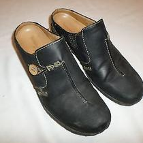 Timberland Women's Shoes Size 8 Black Leather Slip on Mules
