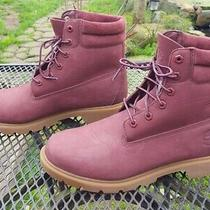 Timberland Women's Size 11 Waterville Waterproof Burgundy Nubuck Ankle   Boots  Photo