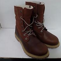 Timberland Womens Boots Authentic Fleece Brown Us Size 7.5 Style 8309 Photo