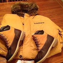 Timberlands- Winter Snow Boots and Coat Photo