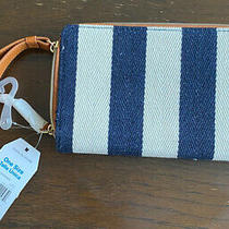 Time & Tru Wristlet Wallet Jean Blue White Khaki Brown Phone Holder Clutch Photo