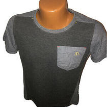 Timeless Elements Mcdonalds Womens Uniform T-Shirt Gray Crew Pocket Size Small Photo