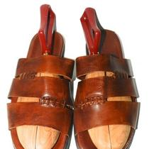To Boot New York Adam Derrick Brown Leather Sandals Shoes Slides Italian Sz 11 Photo