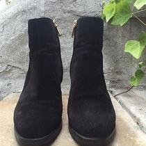 Tod's Black Suede Ankle Boots Size Eu 37 1/2 Us 7 Photo