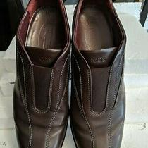 Tod's Brown Leather Slip on Mocassin Loafers Driver Sz 40 1/2 Excellent Photo